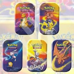 Pokemon TCG KANTO POWER Mini Tin SET OF 5 FACTORY SEALED Collection Charizard