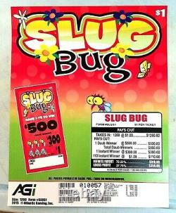 Pull Tab Tickets $1 Slug Bug Two Boxes with 1260 ea total 2520 Tabs