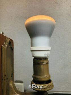 Pullman Car Railroad Car Sconce Light Antique Brass Pair