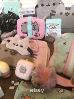 Pusheen the Cat Lot of 27 Items Clothing Doormat Blankets Earrings Bento Box