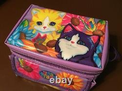 RARE Vintage Lisa Frank Sunflower Kittens Insulated Soft Lunch Bag Tote