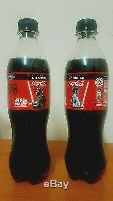Rare Star Wars Coca Cola Kylo Ren And Rey Light Up Oled Bottle Set