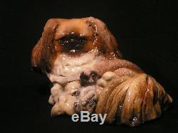 Ron Hevener's Family Dog Figurine For Peke Lovers