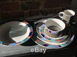 Rare iconic Rosenthal  Scenario Metropol  set of six soup bowls  deep dishes design Barbara Brenner nineties 20th century MINT d 22,6 cm
