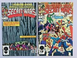 SECRET WARS #1, 4, 5, 7, 8! , 9, 11, 12 LOT of 8 GRADE 9.0-9.2 VF/NM