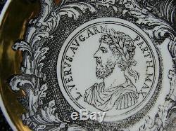 SET of 8 PROFILI ROMANI Signed PIERO FORNASETTI Vintage MCM Portrait Coasters