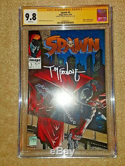 SPAWN #1 2 3 4 5 CGC 9.8 SS SIGNED McFARLANE LOT ALL NM/MT WHITE PAGES NEW SLABS