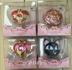 Sailor Moon Miniaturely Tablet 1-9 Complete Set candy toy Rare BANDAI