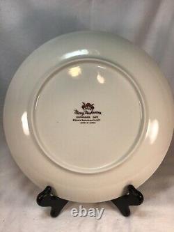 Sears Roebuck Merry Mushrooms set of 4 Dinner Plates Made in Japan 1977