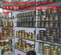 Set Of 7 Tibetan Hand Hammered Singing Bowl Amazing Sounds Chakra Nepal