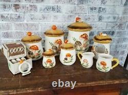 Set of 16 Vintage Mushroom Kitchen Japan 1976 Sears Roebuck and Co