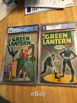 Silver Age Green Lantern lot, #7 CGC 4.5 universal & #18 PGX 6.0, 1st Sinestro