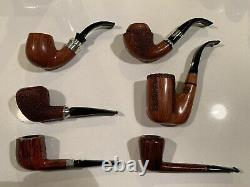 Six (6) Mastro de Paja Handmade Pipes as a Lot AS IS Condition