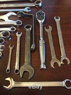 Snap On, Blue-Point, Proto, SK & Mac Tools 22 Piece Wrench Mechanics Tool Lot