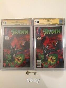 Spawn #1 x's 2 CGC 9.8 SS Todd McFarlane NEWSSTAND 1st Spawn (Al Simmons) KEYS