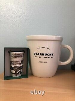 Starbucks 2016 Ceramic Seattle Travel Mug And Giant Cup