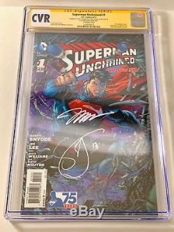 Superman Unchained #1 3D RRP Variant + Set Sketch Jim Lee Scott Stan Snyder CGC