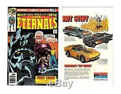 THE ETERNALS #1 2 3 5 LOT High-Grade (1976 Marvel) VFNM