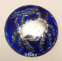 Truly Exceptional Vintage Set Of 12 Motiwala Basse Taille Cobalt Enamel In Sterl