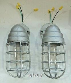 TWO Crouse-Hinds 100 watt Explosion Proof Wall Sconce Porch Vtg Industrial Light