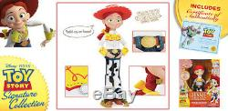 Thinkway TOY STORY SIGNATURE COLLECTION Talking WOODY JESSIE BULLSEYE BUZZ LOT 4