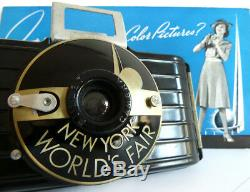 ULTRA RARE 1939 NEW YORK WORLD'S FAIR KODAK BULLET CAMERA Extras Modernist MCM
