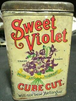 Ultra Rare Sweet Violet Pocket Tobacco Tin, Be Hard Pressed To Find A Nicer One