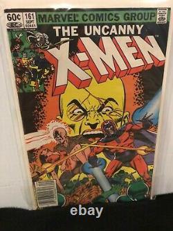 Uncanny X-Men #154-165 Lot of 10 Bronze Age Comics Keys Included 9.4, 9.2, 9.0