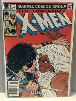 Uncanny X-Men #166-193 Lot of 10 Bronze Age Comics Keys Included 9.4, 9.2, 9.0