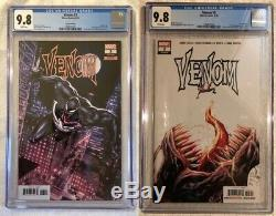 Venom 3 CGC 9.8 Regular and 125 Variant White Pages First KNULL