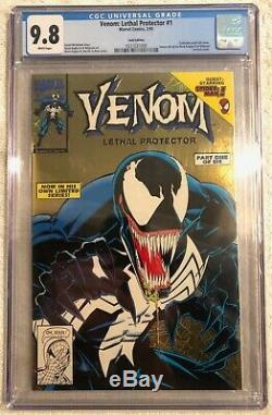 Venom Lethal Protector 1 Gold Edition and Newsstand CGC 9.8 WHITE