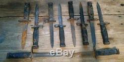 Vietnam Era Bayonet Fighting Knife Lot of 10