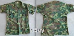 Vietnam US Army ERDL, tiger stripe, combat uniform pants shirt set lot trousers