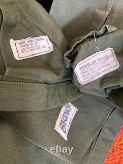 Vietnam War Uniform Grouping Named Mustang Marine Officer Sateen Og-107