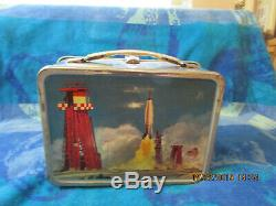 Vintage 1963 King Seeley Thermos Co. Metal/ Space Orbitor Lunchbox and Thermos