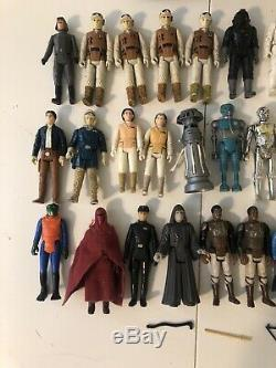 Vintage 1977-1984 Star Wars Figure Lot Of 46 Figures & Some Weapons Bulk Price