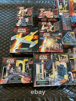 Vintage Hasbro STAR WARS Episode 1 MIB Action Figure, Playset, & Vehicle Lot