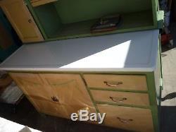 Vintage Hoosier Cabinet Sears 1940 NOTE 3 Piece Kitchen Cabinet Set