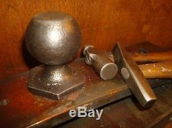 Vintage Jewelers Anvil, Hammer, Vise Tool Work Bench Repousse Punches Blacksmith