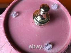 Vintage PAIR 2 Lawnware Table Top Lamp Lights Flower Swag RV Camper Patio kitsch