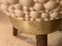 Vintage Pair MCM Lamps Bubble Beehive Tripod Atomic WORK