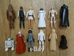 Vintage Star Wars Kenner Lot Complete Set First 21 Figures 1977-1979 + Case