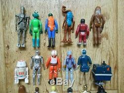 Vintage Star Wars Lot First 21 Kennner Figures + Collector Case 24 Complete 1977