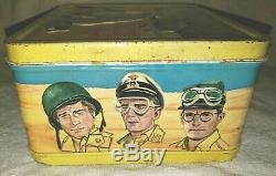 Vintage The Rat Patrol Metal Lunch Box Pail 1967 Aladdin Lunchbox with Thermos