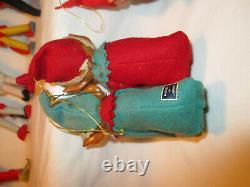 Vintage christmas elves 16 item lot hawaiian knee hugger felt devil elf dwarf