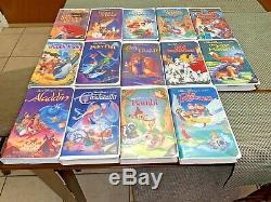 Walt Disney Classics Black Diamond Video Collection Set (13)+1 Brand New Sealed