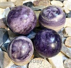 Wholesale Lot 4 Pcs Natural Silk Fluorite Spheres Crystal Ball 5.8-6 Lbs Healing