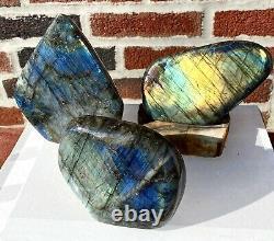 Wholesale Lot 5-6 Pcs Natural Labradorite Free Form Crystal Btwn 7.5 lb 8 lb