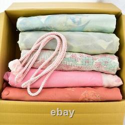 Wholesale bulk Vintage Silk Kimono Haori Michiyuki Obi, Sustainable Fashion