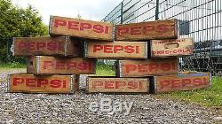 Wholesale lot of 5 Pepsi Crates, Original, Vintage